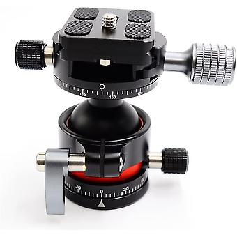DZK E2 Tripod Ball Head double Panoramic Head with Quick Release Plate For Camera Tripod, Net