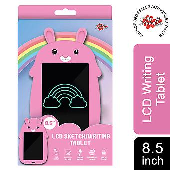 Doodle 8.5 inch Kid's LCD writing tablet with cartoon pad, Pink rabbit
