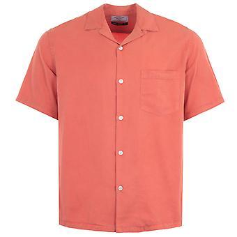 Portuguese Flannel Dogtown Short Sleeve Shirt - Pastel Pink