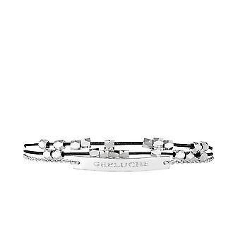 'GRELUCHE' Bracelet chaine argenté à message