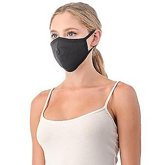 Black Reusable/washable Cotton Face Mask, Made In Usa, Unisex Mask