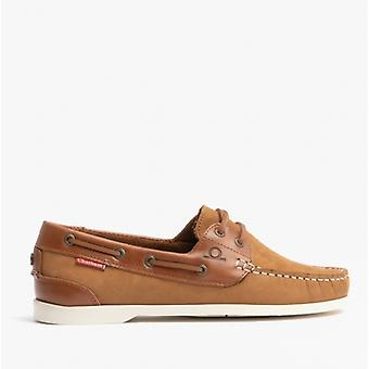 Chatham Willow Ladies Leather Boat Shoes Tan
