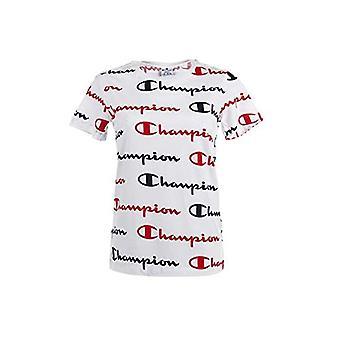 Campeão Sazonal AC Logo Allover Crewneck T-Shirt, Wl004 Branco, L Mulher