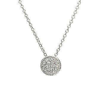Eye Candy ECJ-NL0079 Women's necklace with circular pendant, enriched with 20 white zircons and made of Sterling Ref silver. 4045425027818