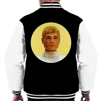 Action Man Blonde Hair Men's Varsity Jacket