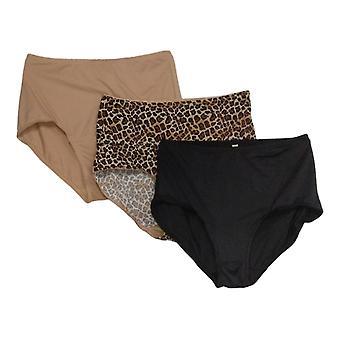 Rhonda Shear Plus Slipje 3-Pack Smoothing Brief Brown 741378