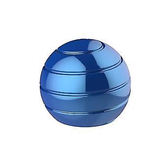 55mm כחול נתיק שולחן מסתובב הכדור העליון, קצות האצבעות מסתובב צעצוע לחץ העליון az4751