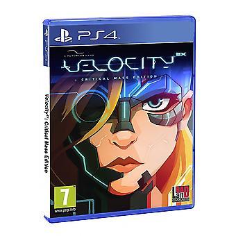 מהירות 2X קריטי מהדורה המסה PS4 משחק