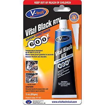 Streetwize V-Tech Gasket Makers - 85g Vital Black RTV