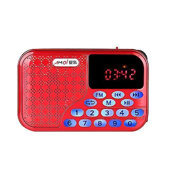 Hordozható digitális FM rádió U-lemez TF kártya MP3 zene audiolejátszó hangszóró