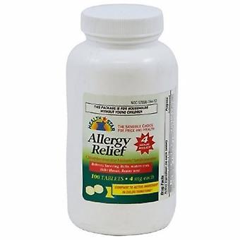 Sunmark Allergy Relief McKesson Brand 4 mg Strength Tablet 100 per Bottle, 100 Tabs