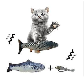 1 # القطة للعبة USB محاكاة الأسماك catnip الأسماك الكهربائية للعبة az10613