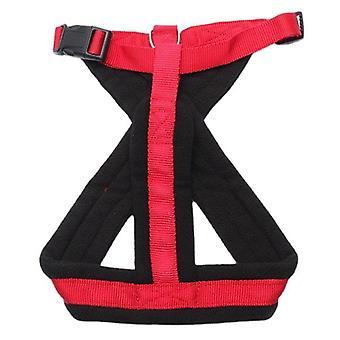 Pet dog harness walking chest strap belt lead leash d-ring