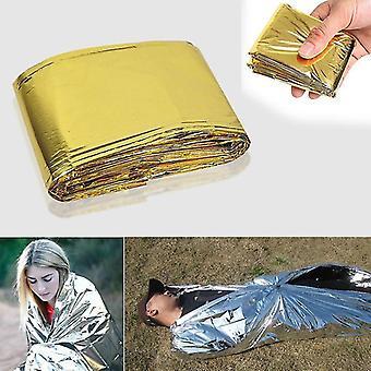 新しい緊急ホイルマイラー毛布の救助熱補助装置はキャンプsm41860のためのボディ熱を保持する