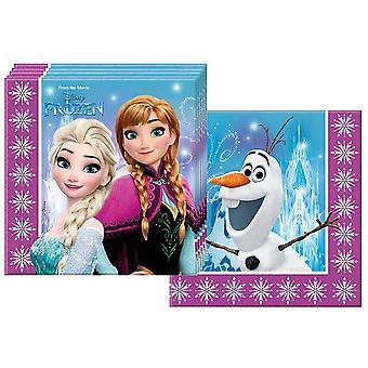 10040689 86757 - Servietten Disney Frozen Northern Lights, 20 Stück, Größe 33 x 33 cm,