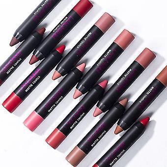 12 Pcs Matte Lipstick Set Long Lasting Waterproof