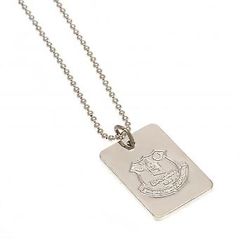 Everton Silver Plated Pendant & Chain DT