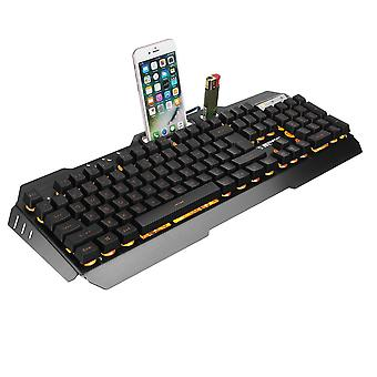 USB Wired Yellow LED Backlight Mechanical Handfeel Gaming Keyboard and Combo