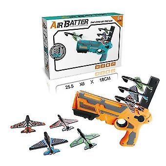 Egy kattintással Ejekciós modell Hab Repülőgép Launcher Gun Toy Kids Kültéri Játék (Sárga)
