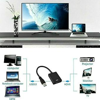 HD 1080P USB 3.0 to HDMI Video Cable Adapter Converter for PC Laptop TV Computer
