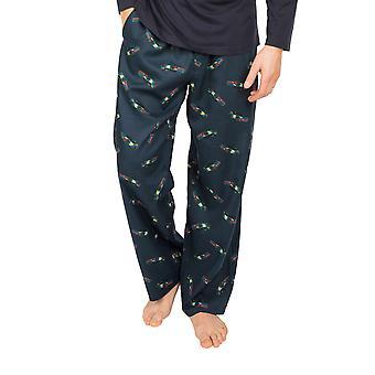 Cyberjammies Lewis 6633 Mäns Blå Bilar Bomull Pyjamas Byxa