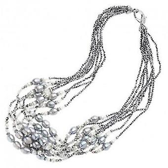 Ottaviani jewels necklace with silver beads 48399