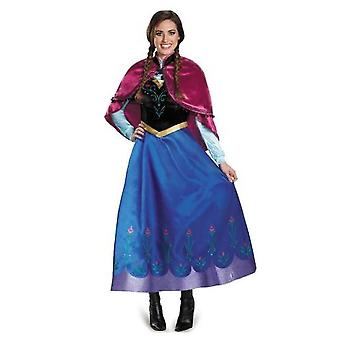 Adult Princess Anna Cosplay Costume Christmas Cos Fancy Dress Outfit