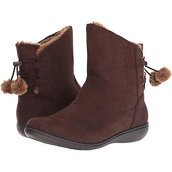 Soft Style Womens Jazzy Faux Fur Closed Toe Ankle Cold Weather Boots