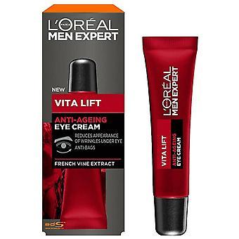 L'Oréal Paris Hombre Experto Vita Lift Crema Antienvejecimiento para Ojos 15ml