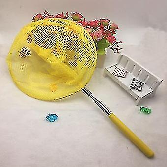 Roestvrij staal telescopische netten kinderen visnetten en insectennetten en vlindernetten (geel)