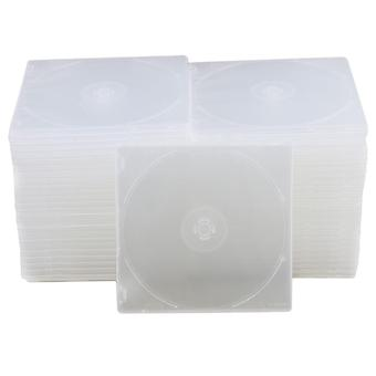 MP3-Player-Hüllen 12.9x12.6cm transparente schlanke Einzel-Disc-CD-DVD-Jewelcases Set von 50