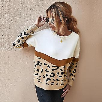 Autumn/ Winter- Leopard Patchwork Knitted Sweater