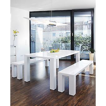 Tomasso's Manfredonia Dining Table - Modern - White - Mdf - 140 cm x 90 cm x 76 cm