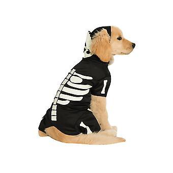Dog apparel skeleton glow in the dark pet hoodie - s