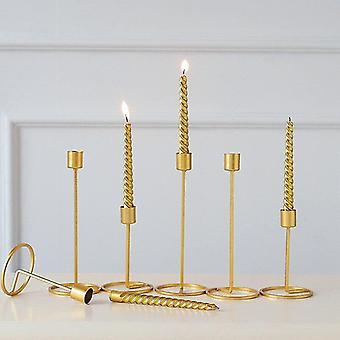 Minimalistische stijl metalen kandelaar houders voor home decor (groot) (goud)