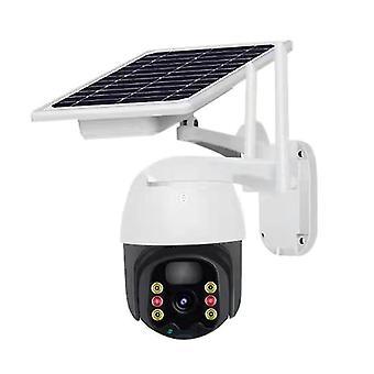 Outdoor draadloze beveiligingscamera met zonnepaneel 1080p wifi 350 ° kijkhoek infrarood nacht