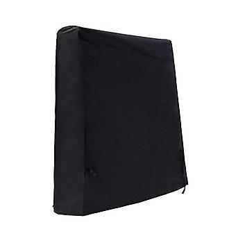 Tischtennisplatte wasserdichte Abdeckung 165 x 70 x 185cm Schwarz
