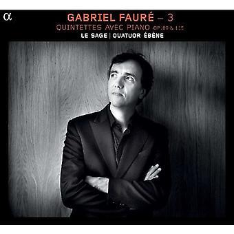 G. Faure - Faur: Quintettes Avec Piano, Opp. 89 & 115 [CD] USA import