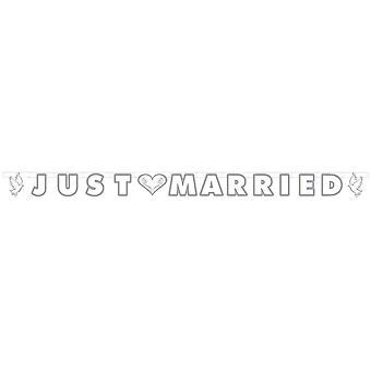 Garland casado com texto de casamento 150cm decoração decoração de casamento de Garland