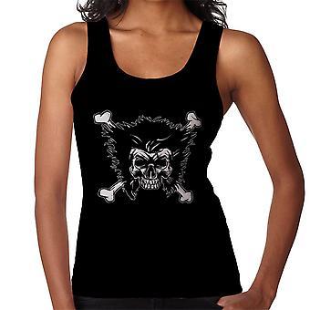 Jolly Logan Skull And Cross Bones Wolverine X Men Women's Vest