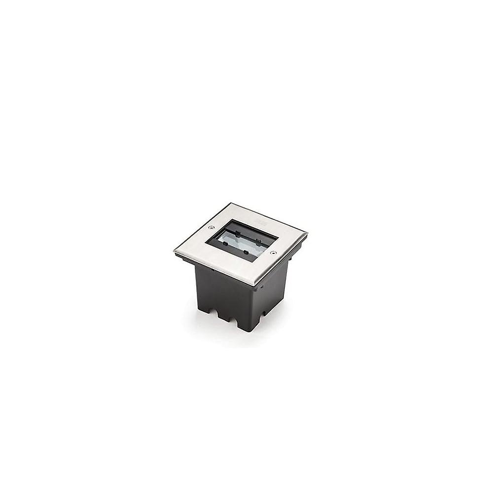 Konstsmide Outdoor Recessed Square 5W LED Ground Light, Stainless Steel