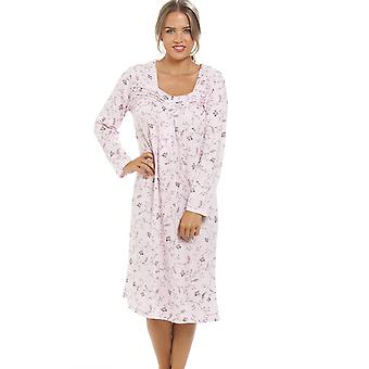 Camille Classic Floral Print lange mouw roze Pyama