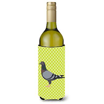Racing Pigeon Green Wine Bottle Beverge Insulator Hugger