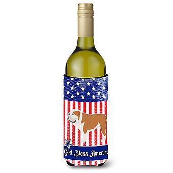 USA isänmaallinen Englanti bulldoggi viinipullo Beverge eriste Hugger