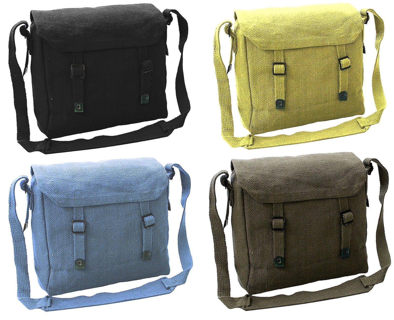 New Vintage Style Canvas Shoulder Haversack Bag