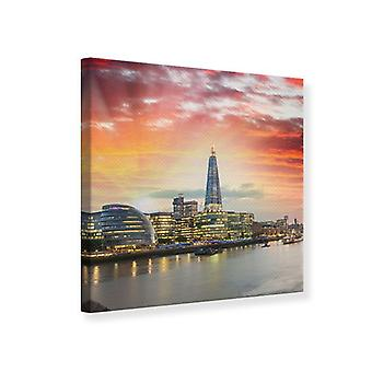 Canvas Print Skyline Londen bij zonsondergang