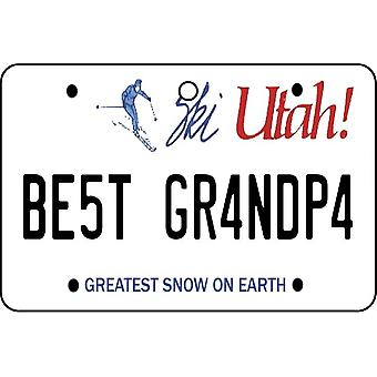 Utah - Best Grandpa License Plate Car Air Freshener
