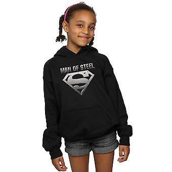 DC Comics Girls Superman Mann Stahlschild Hoodie