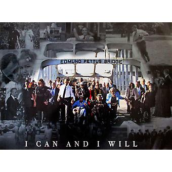 Selma March Poster I Can And I Will 50th Anniversary (24x18)