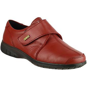 Cotswold señoras Woking tacto cuero impermeable zapato rojo de fijación
